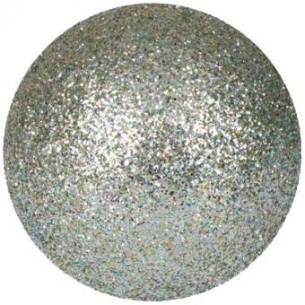 EUROPALMS Deco Ball 6cm, silver, glitter 6x