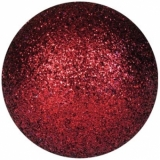 EUROPALMS Deco Ball 6cm, red, glitter 6x
