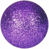 EUROPALMS Deco Ball 6cm, violet, glitter 6x
