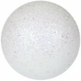 EUROPALMS Deco Ball 6cm, white, glitter 6x