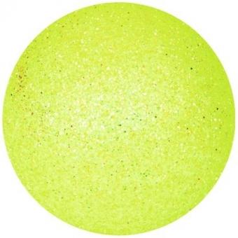 EUROPALMS Deco Ball 6cm, lemon, glitter 6x