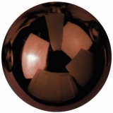 EUROPALMS Deco Ball 6cm, brown, shiny 6x