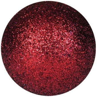 EUROPALMS Deco Ball 3,5cm, red, glitter 48x