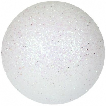 EUROPALMS Deco Ball 3,5cm, white, glitter 48x