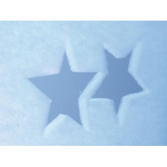 EUROPALMS Fleece banner, Star B1, 100x350cm #5