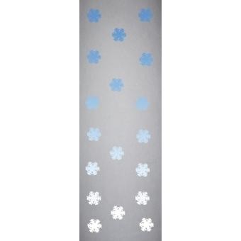 EUROPALMS Fleece banner, Snowflake B1, 100x350cm