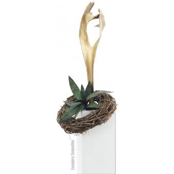 EUROPALMS Palm leaf, dried, gold #7