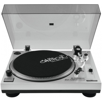 OMNITRONIC BD-1380 USB Turntable sil #3