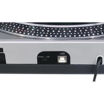 OMNITRONIC DD-2550 USB Turntable sil #4