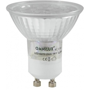 OMNILUX GU-10 230V 18 LED red