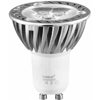 OMNILUX GU-10 230V 3x1W LED green
