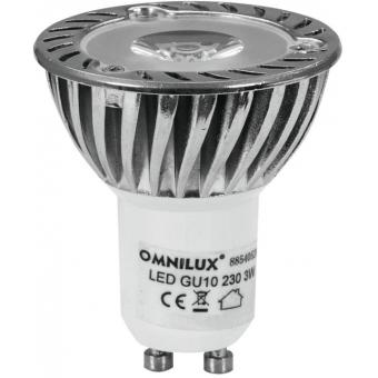 OMNILUX GU-10 230V 1x3W LED red