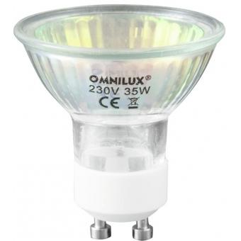 OMNILUX GU-10 230V/50W 1500h 25° red