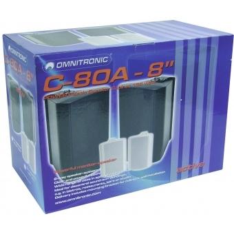 OMNITRONIC C-80A active white 2x #6