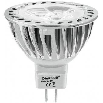 OMNILUX GU-5.3 12V 3x1W LED red