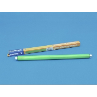 OMNILUX Tube 15W G13 450x26mm green glas