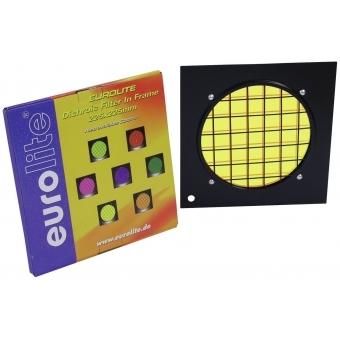 EUROLITE Yellow Dichroic Filter black Frame PAR-56 #2