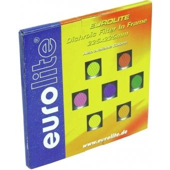 EUROLITE Yellow Dichroic Filter silv. Frame PAR-56 #3