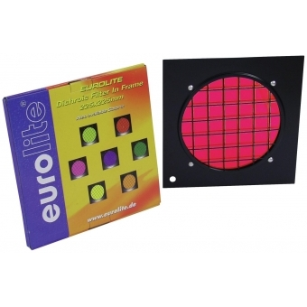 EUROLITE Red Dichroic Filter black frame f. PAR-56 #2