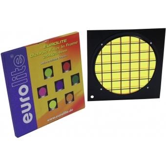 EUROLITE Yellow Dichroic Filter black Frame PAR-64