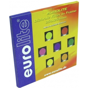 EUROLITE Yellow Dichroic Filter silv. Frame PAR-64 #3