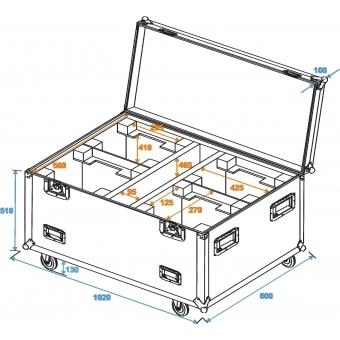 ROADINGER Flightcase 4x DMH-90/150/DMB-160/PLB-230 #7