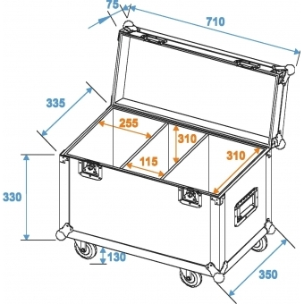 ROADINGER Flightcase 2x TMH-30/40/60 with wheels #2