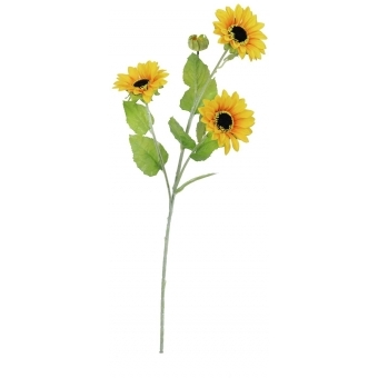 EUROPALMS Sunflower Branch x 3, 70cm