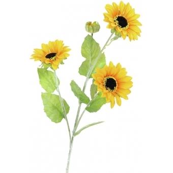 EUROPALMS Sunflower Branch x 3, 70cm #2