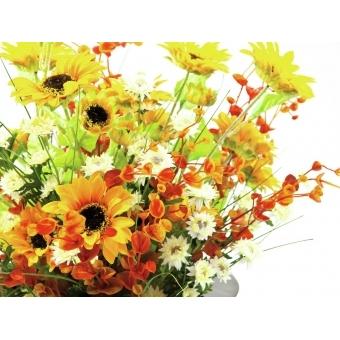 EUROPALMS Sunflower Branch x 3, 70cm #4