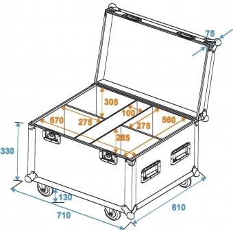 ROADINGER Flightcase 4x TMH-30/TMH-40/TMH-60 #9