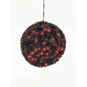 EUROPALMS Boxwood ball with red LEDs, 40cm
