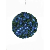 EUROPALMS Boxwood ball with blue LEDs, 40cm