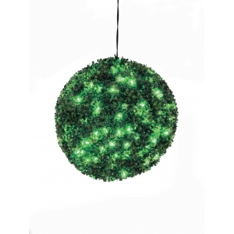 EUROPALMS Boxwood ball with green LEDs, 40cm