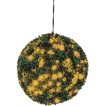 EUROPALMS Boxwood ball with orange LEDs, 40cm