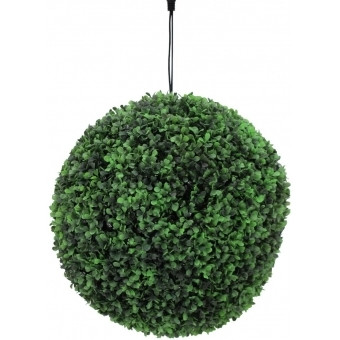 EUROPALMS Boxwood ball with orange LEDs, artificial,  40cm #2