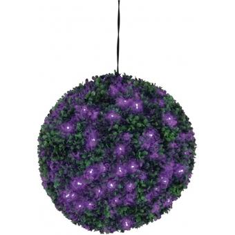 EUROPALMS Boxwood ball with purple LEDs, 40cm