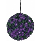 EUROPALMS Boxwood ball with purple LEDs, 40cm