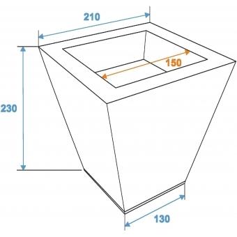 EUROPALMS Flowerpot, zinc, 25cm square #2