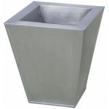 EUROPALMS Flowerpot, zinc, 25cm square