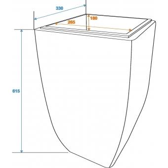 EUROPALMS Design flower pot, hyazinth, 60 cm #2