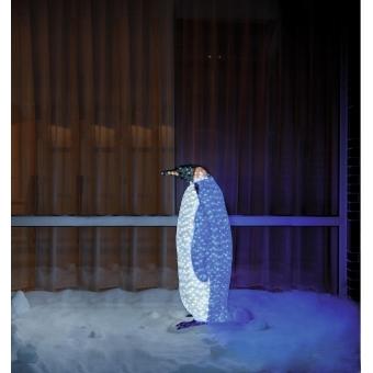 EUROPALMS LED PENGUIN female white-blue