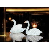 EUROPALMS LED SWAN, white
