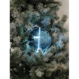 EUROPALMS LED Snowball 8cm, ice blue 5x