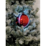 EUROPALMS LED Snowball 8cm, red 5x
