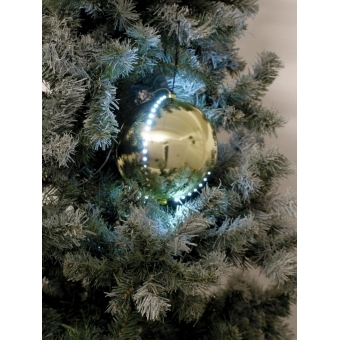 EUROPALMS LED Snowball 8cm, gold 5x