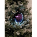 EUROPALMS LED Snowball 8cm, purple 5x