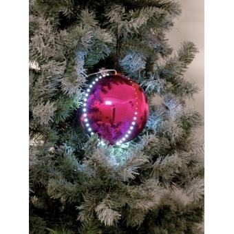 EUROPALMS LED Snowball 15cm, pink #2