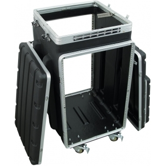 ROADINGER Combi case plastic 10/16U with wheels #5