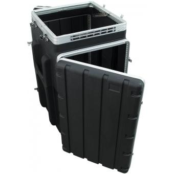ROADINGER Combi case plastic 10/16U with wheels #6